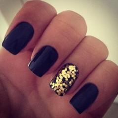 dark blue and gold flecks