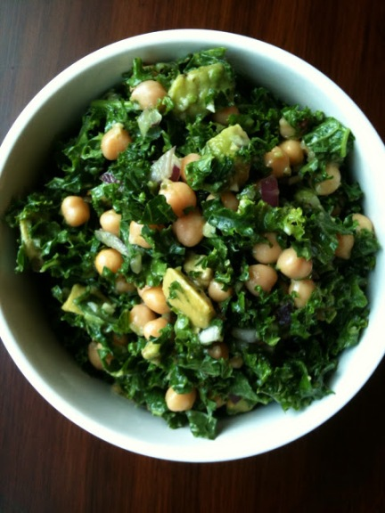 Chickpea, Avocado, Kale Salad