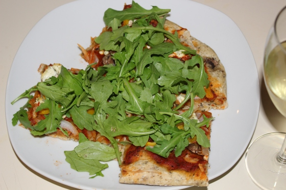 Arugula & Herbed Goat Cheese Pizza