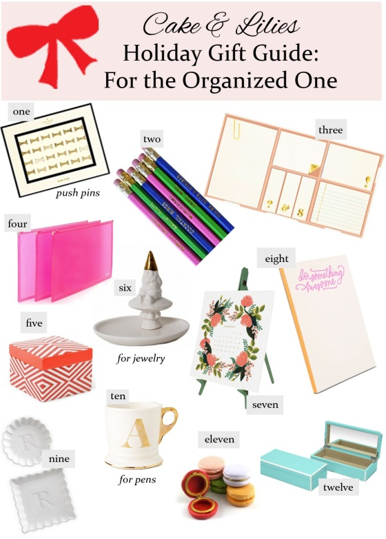 For the Organized One