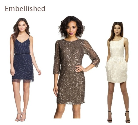 Holiday Dresses- Embellished