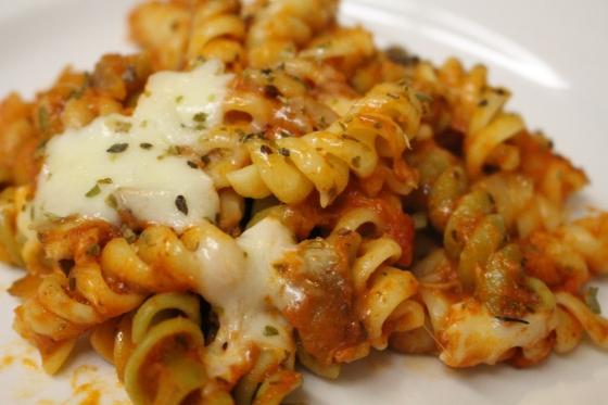 Baked Parmesan & Mozzarella Rotini | Cake & Lilies
