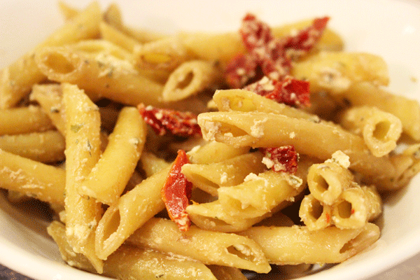 Sun-Dried Tomato & Goat Cheese Pasta Salad
