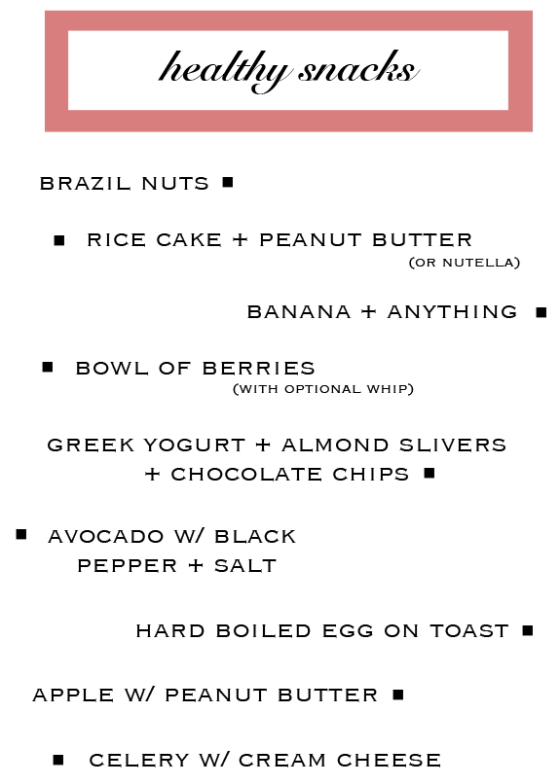 Healthy-Snack-List