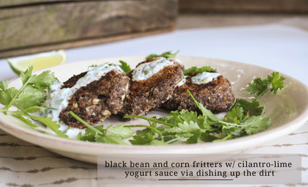 Black Bean & Corn Fritters